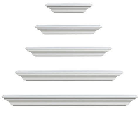 White Mantle Shelf by Pearl Mantels 618 Crestwood Mdf Fireplace Mantel Shelf In White