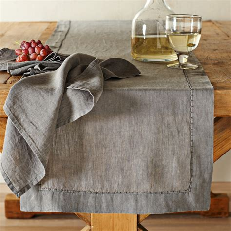 williams sonoma table runner washed linen table runner williams sonoma au