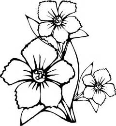 Simple flower colouring pages printable coloring pages clipart