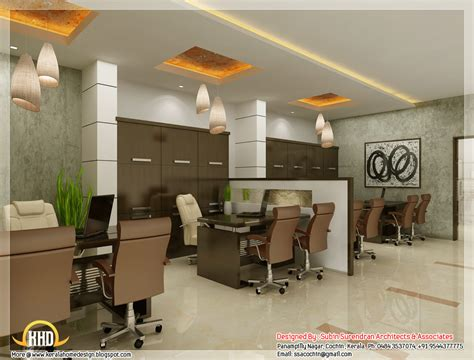 beautiful office design beautiful 3d interior office designs kerala home design