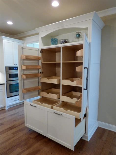 Built In Pantry Cabinet Custom Built In Pantry With Rollout Shelves