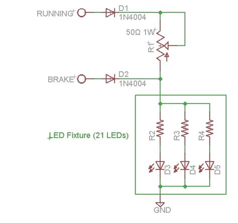 resistor function circuit resistors connect two function brake light to three function car circuit electrical