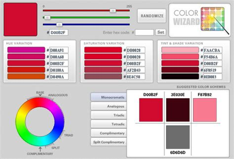 complementary colors generator color wizard color scheme generator web resources
