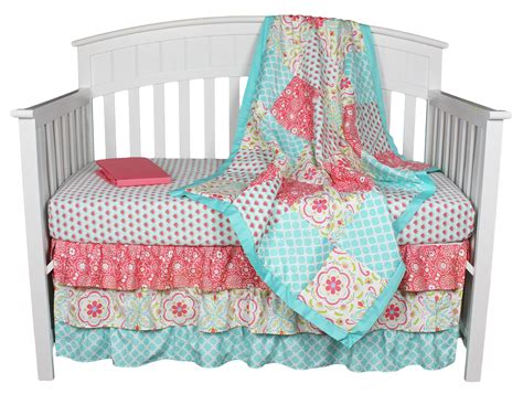 pink and teal baby bedding teal coral bedding lavender linens three piece bumperless