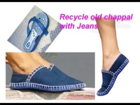 how to make a boat with waste material 3 recycle old jeans denim slippers chappal to make
