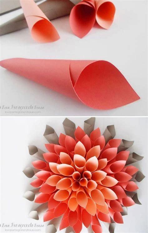 How To Make A Paper Sculpture Flower - c 243 mo hacer flores de origami recilando papel diy