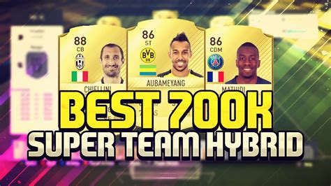 fifa 17 the best 700k most overpowered hybrid team ever