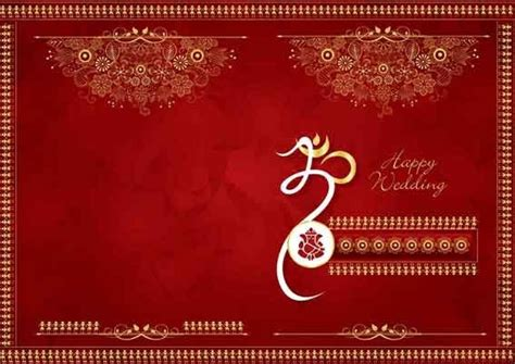 Hindu Wedding Cards Templates In by Indian Wedding Invitation Background Designs Free