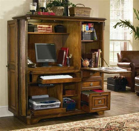 Mission Computer Armoire Desk Plans Home Office Computer Armoire
