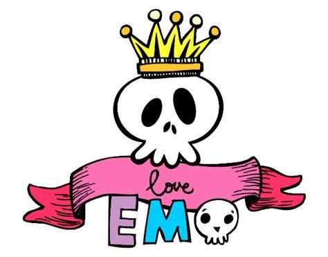 imagenes emo love amor dibujo de emo calavera pintado por tei007 en dibujos net