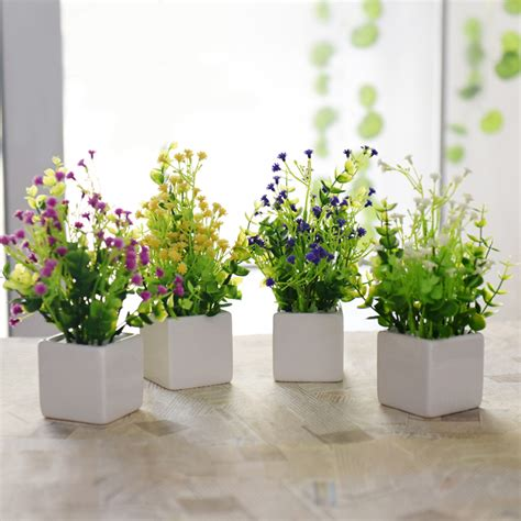 artificial flower decoration for home 2016 hot sale simulation flower potted plant artificial