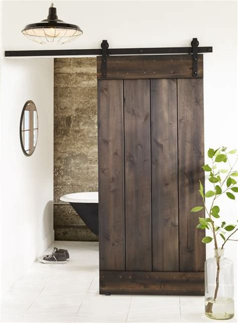beautiful wooden sliding doors  bathroom homemydesign