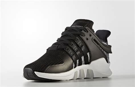 Adidas Eqt Support Adv Black White Premium Quality adidas eqt support adv black stripes fastsole co uk