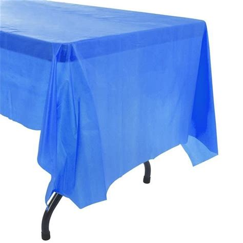 blue plastic tablecloths birthday supplies