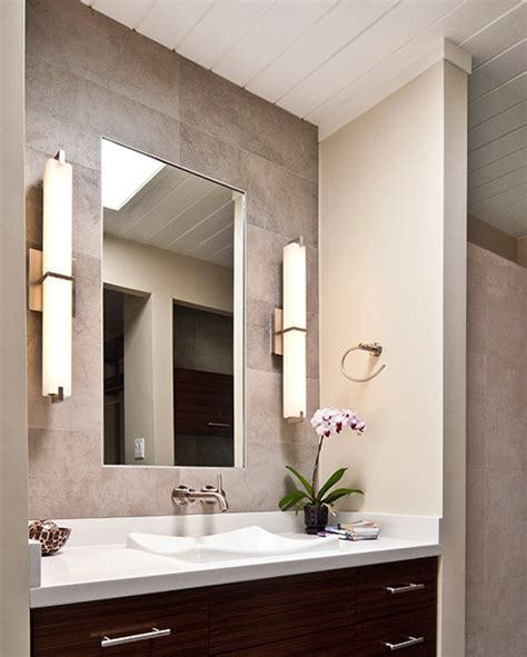 bathroom mirror sconces metro bath details tech lighting