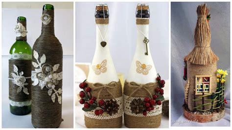 imagenes de navidad para decorar botellas 13 ideas hermosas para decorar botellas con cord 243 n de