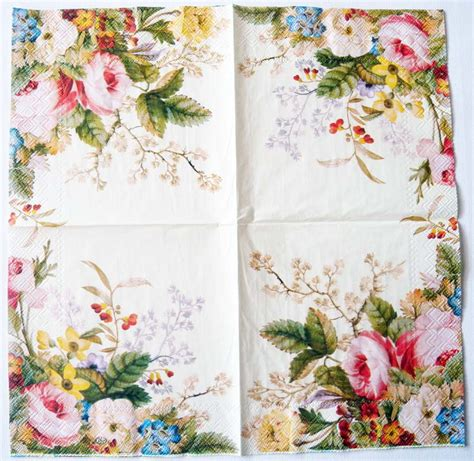 Paper Napkin Decoupage - decoupage paper napkins of summer roses chiarotino
