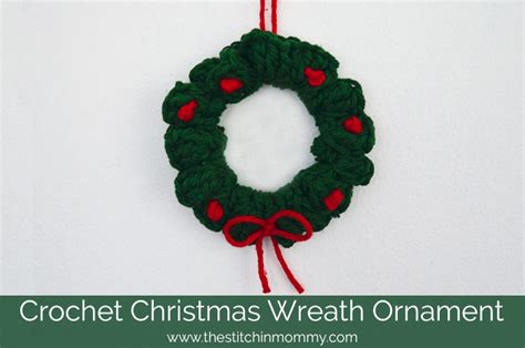 crochet christmas wreath ornament the stitchin mommy