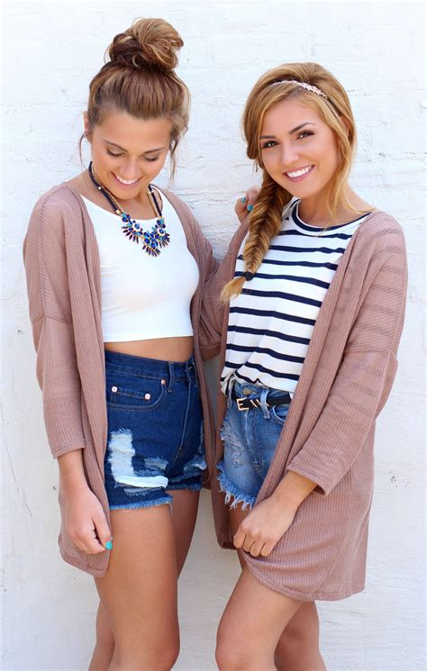 friend photoshoot denim high waisted shorts mocha