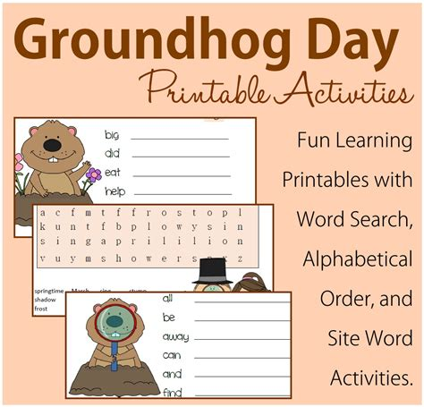 groundhog day activities 28 free groundhog day worksheets itsy bitsy book