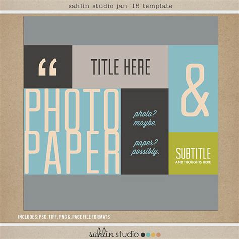 Free Digital Scrapbooking Template Sketch January 2015 Sahlin Studio Digital Scrapbooking Free Digital Scrapbooking Templates