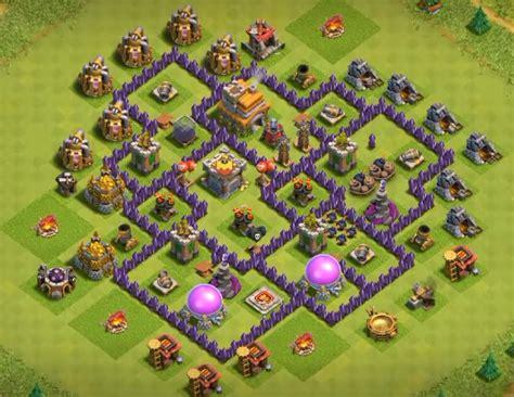 coc village layout th7 top 50 best th7 war base farming hybrid trophy