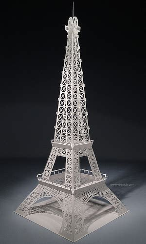 eiffel tower pop up card template eiffel tower origamic architecture flickr photo