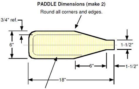canoe paddle template kayak style paddle