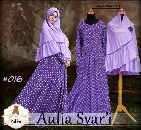 Baju Gamis Syari Ukuran Jumbo baju muslim syari aulia a016 model gamis ukuran jumbo