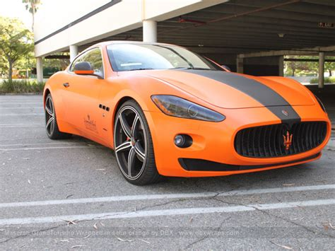 orange maserati maserati granturismo s orange and carbon wrap autoevolution