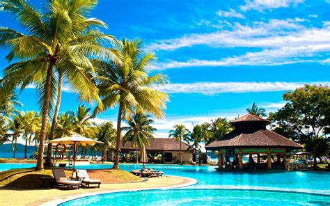 tropical swimming pools pacific palms hotel wallpaper