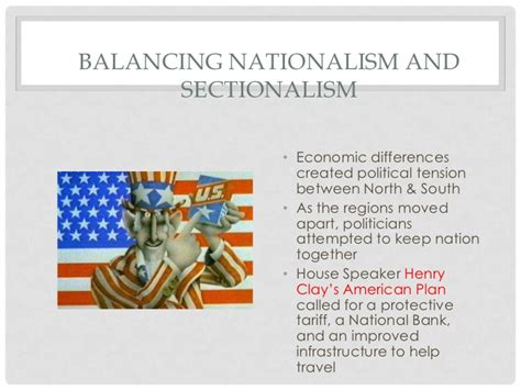 balancing nationalism and sectionalism chapter 3 jefferson and war of 1812