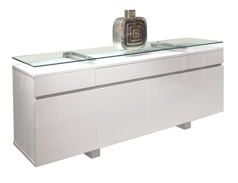 Modern Dining Rooms Novo White Lacquer Buffet