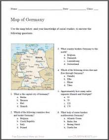 germany map worksheet for kids student handouts