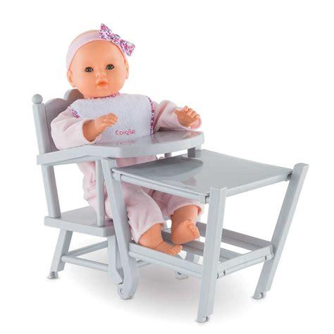 chaise haute corolle chaise haute pour poupons 36 cm et 42 cm corolle 174 frv070