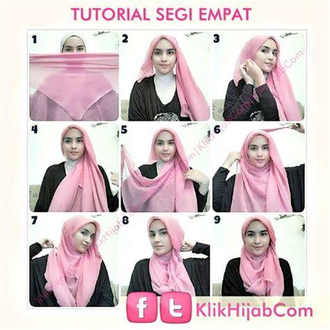 ideas  hijab tutorial segi empat