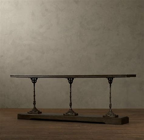 Restoration Hardware Bar Table Oh La La 19th C Zinc And Cast Iron Console Table From Restoration Hardware Currently