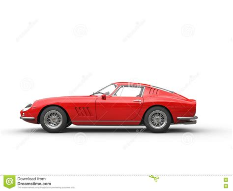 sports car side view vintage sports car side view stock illustration