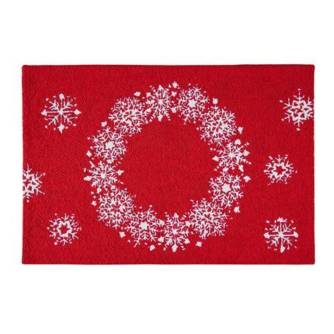 c f enterprises hooked rugs snowflake wreath hooked rug 2 x 3 c f enterprises