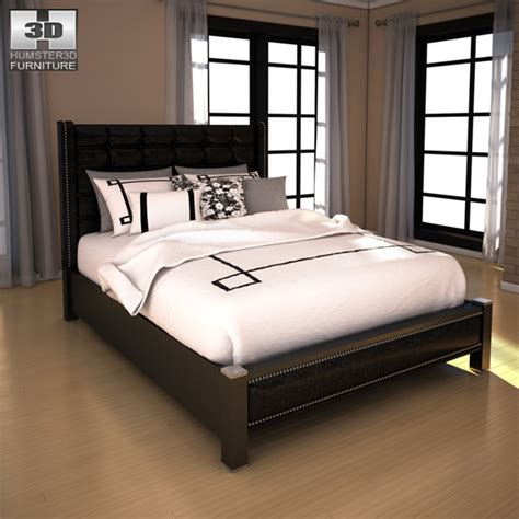 diana bedroom set ashley diana queen upholstered headboard bed 3d model game