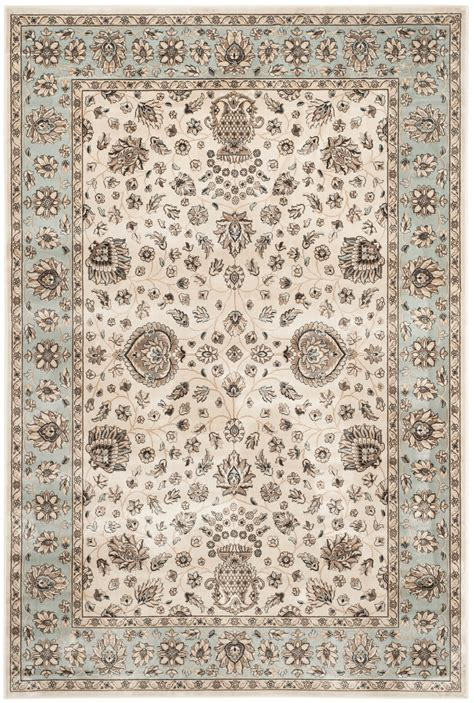 Viscose Area Rug by Ivory Light Blue Safavieh Garden Viscose Area Rug