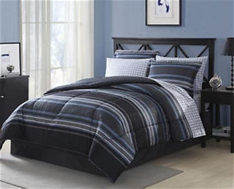 6pc black and white striped bedding set includes comforter black grey white blue striped plaid 6 piece comforter