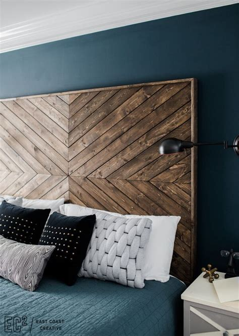 headboard designs wood diy headboard eastcoastcreative for the home pinterest