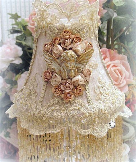 details about victorian lace l shade embroidered style beaded fringe lshade vintage look