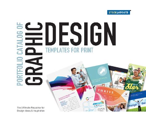 graphic design portfolio template stocklayouts portfolio catalog of graphic design templates