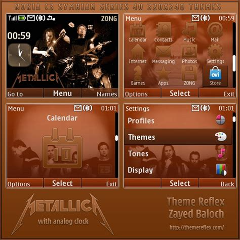 themes of mobile x2 01 metallica mobile theme for nokia c3 x2 01 themereflex
