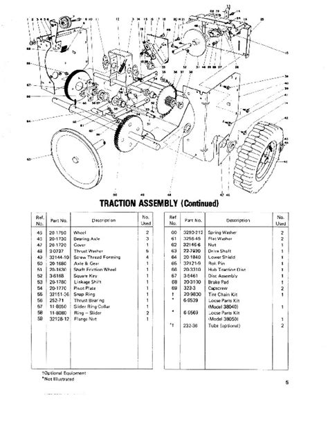 Toro 38040 524 Snowblower Parts Catalog 1979