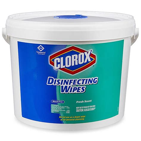 clorox disinfecting wipes jumbo bucket fresh scent  ct   uline