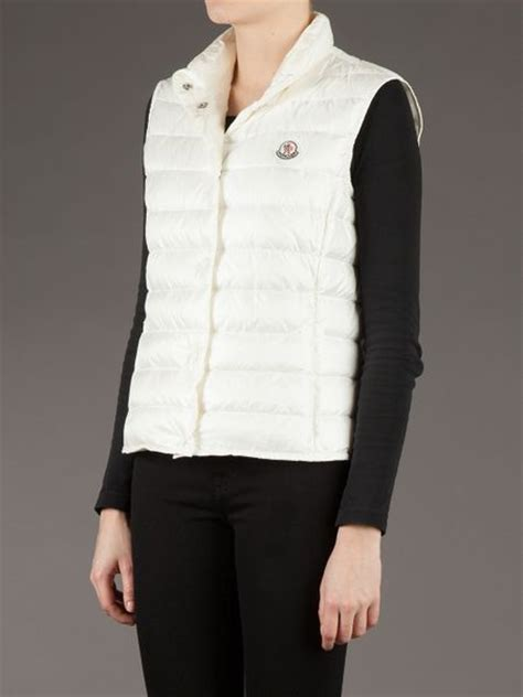 White Quilted Vest by Moncler Liane Quilted Vest In White Lyst