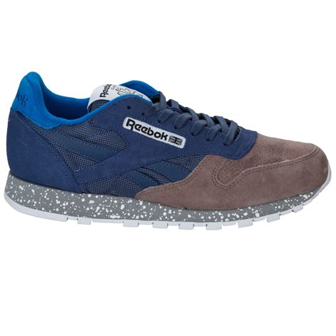 Jual Reebok Classic Leather Utility mens reebok classic leather utility trainers in black from get the label ebay